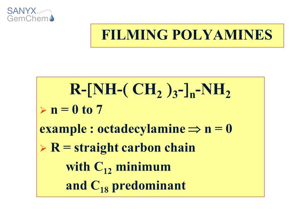 R-NH- CH2 3-n-NH2 FILMING POLYAMINES n = 0 to 7