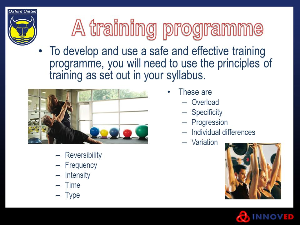 A training programme