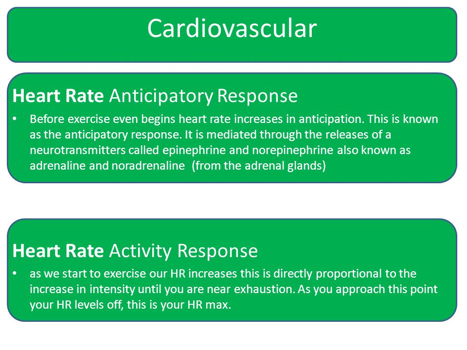 Cardiovascular Heart Rate Anticipatory Response