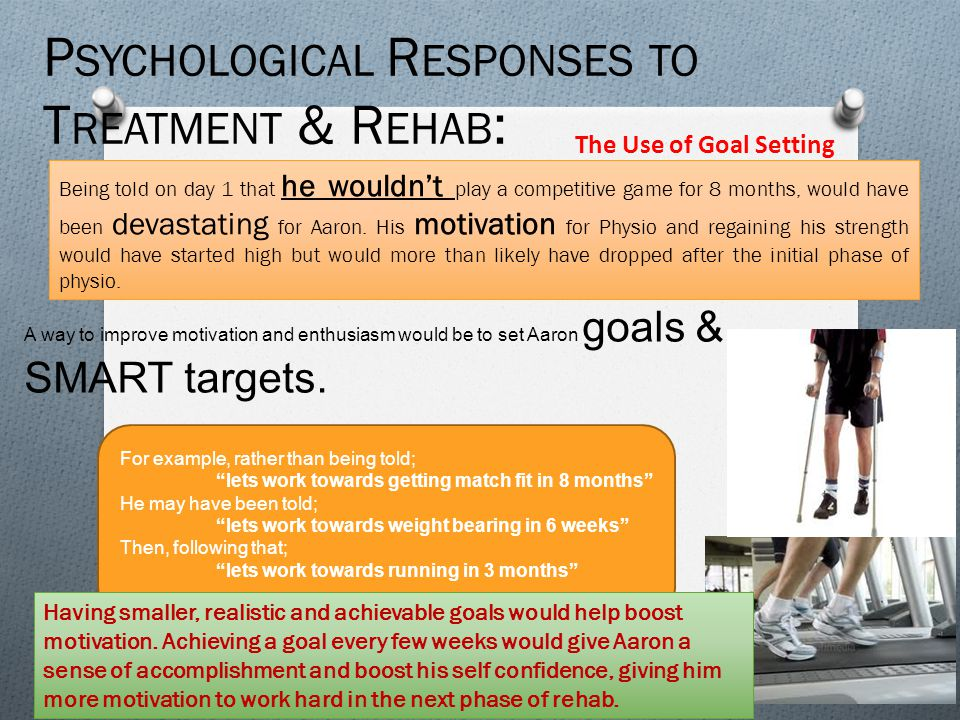 Psychological Responses to Treatment & Rehab:
