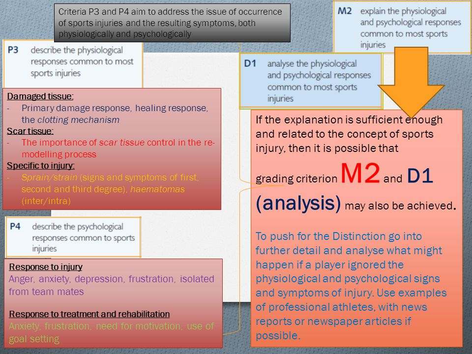 grading criterion M2 and D1 (analysis) may also be achieved.
