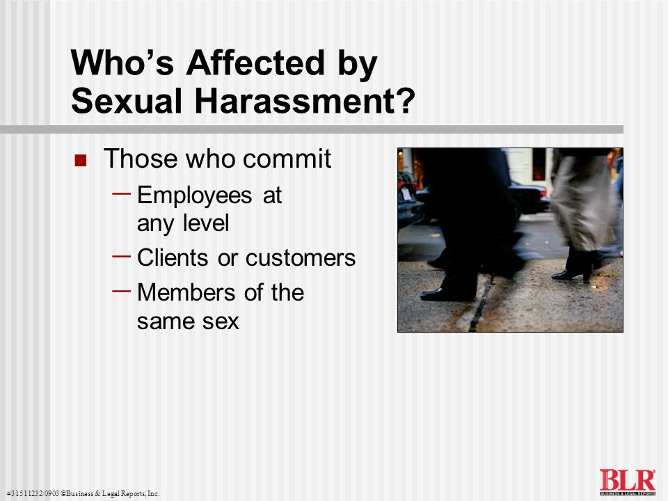 Who's Affected by Sexual Harassment