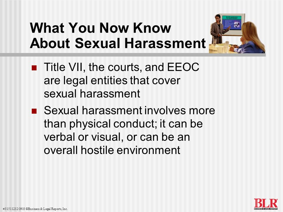 What You Now Know About Sexual Harassment