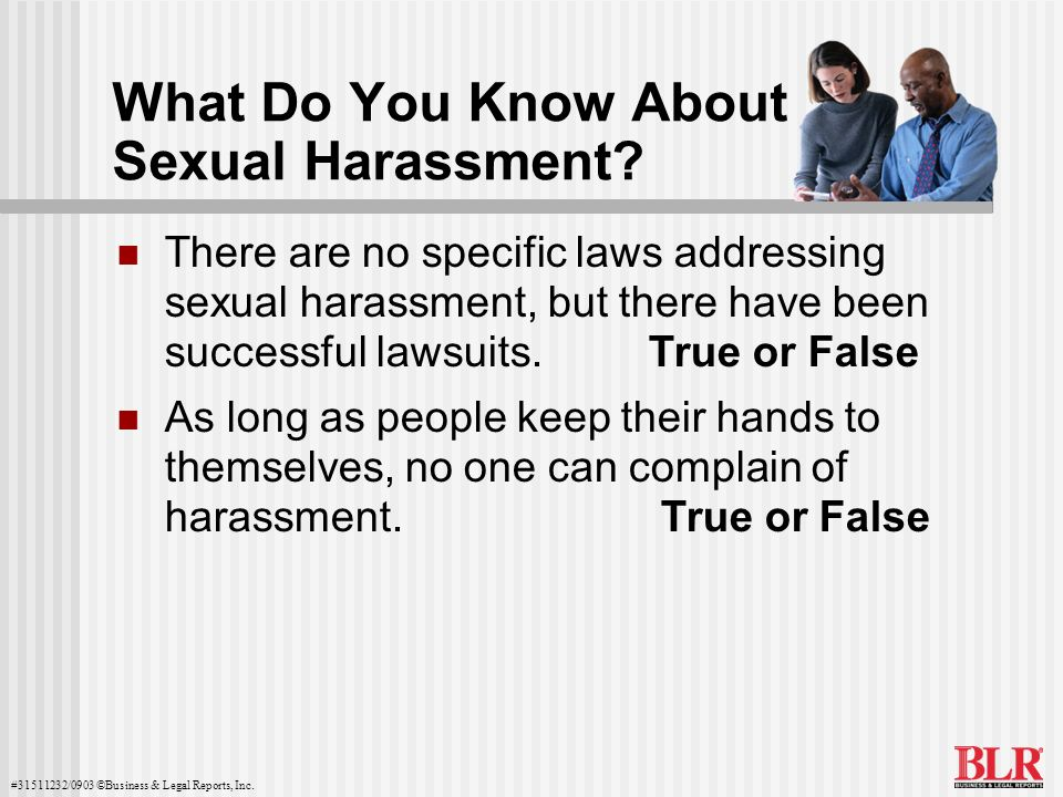 What Do You Know About Sexual Harassment