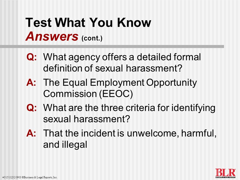 Test What You Know Answers (cont.)