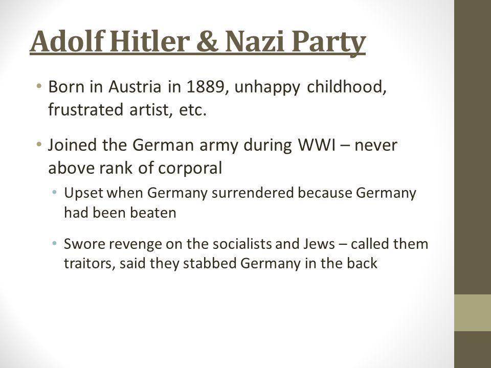 Adolf Hitler & Nazi Party