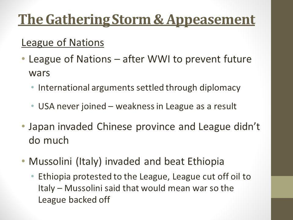 The Gathering Storm & Appeasement