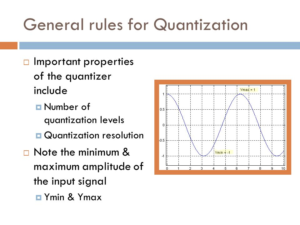 General rules for Quantization