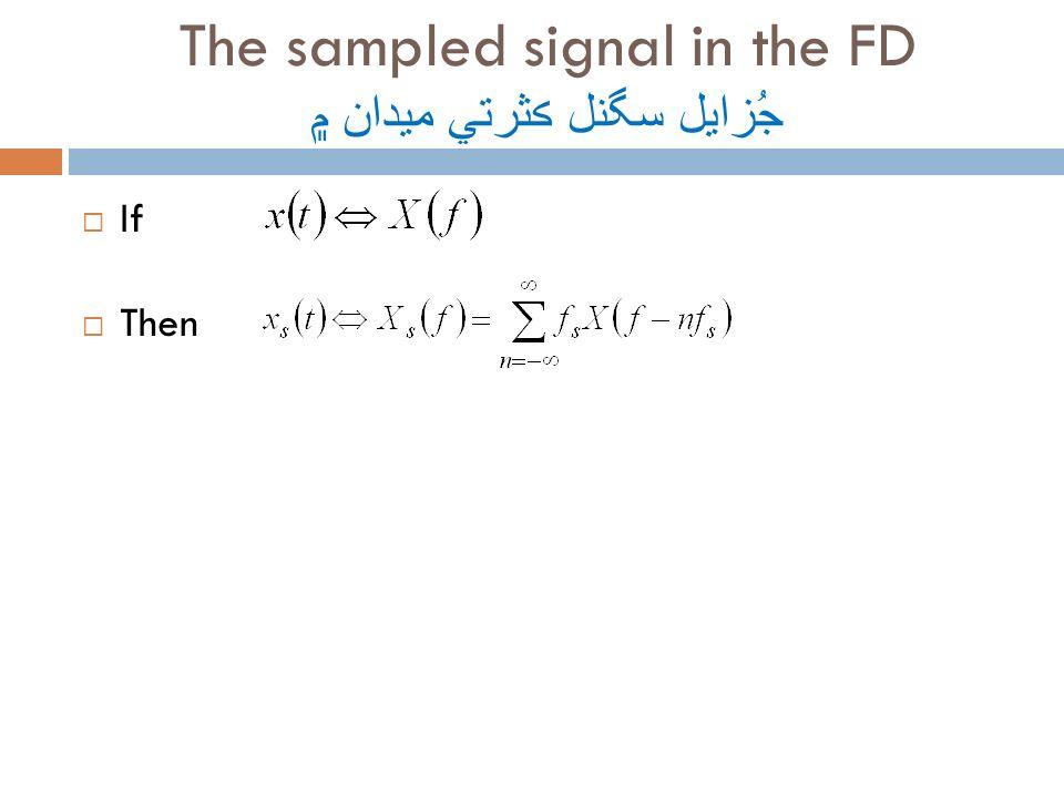 The sampled signal in the FD جُزايل سگنل ڪثرتي ميدان ۾