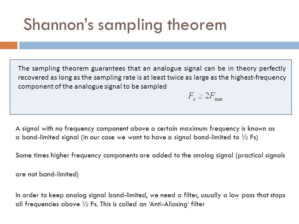Shannon's sampling theorem