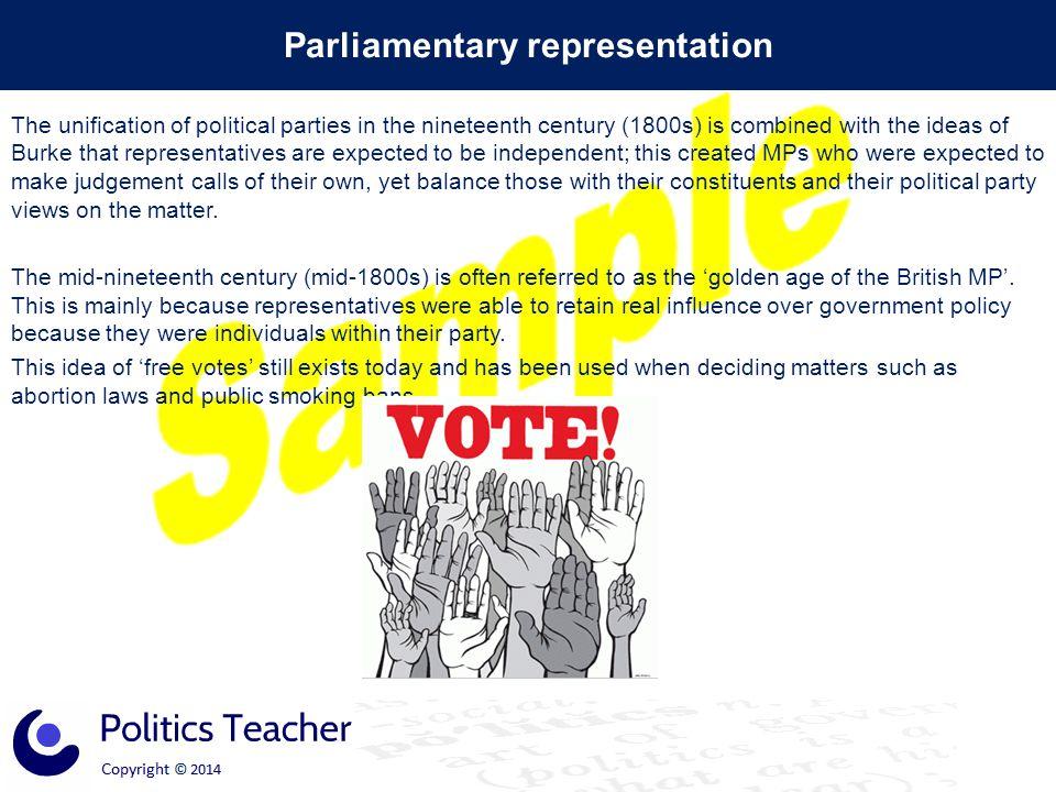 Parliamentary representation