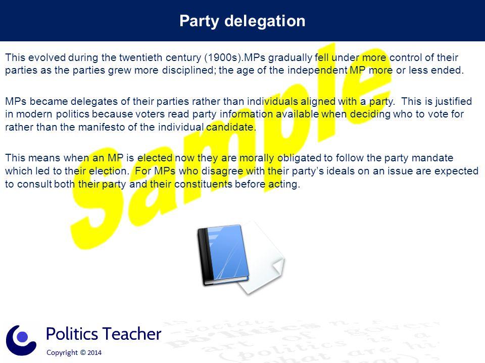 Party delegation