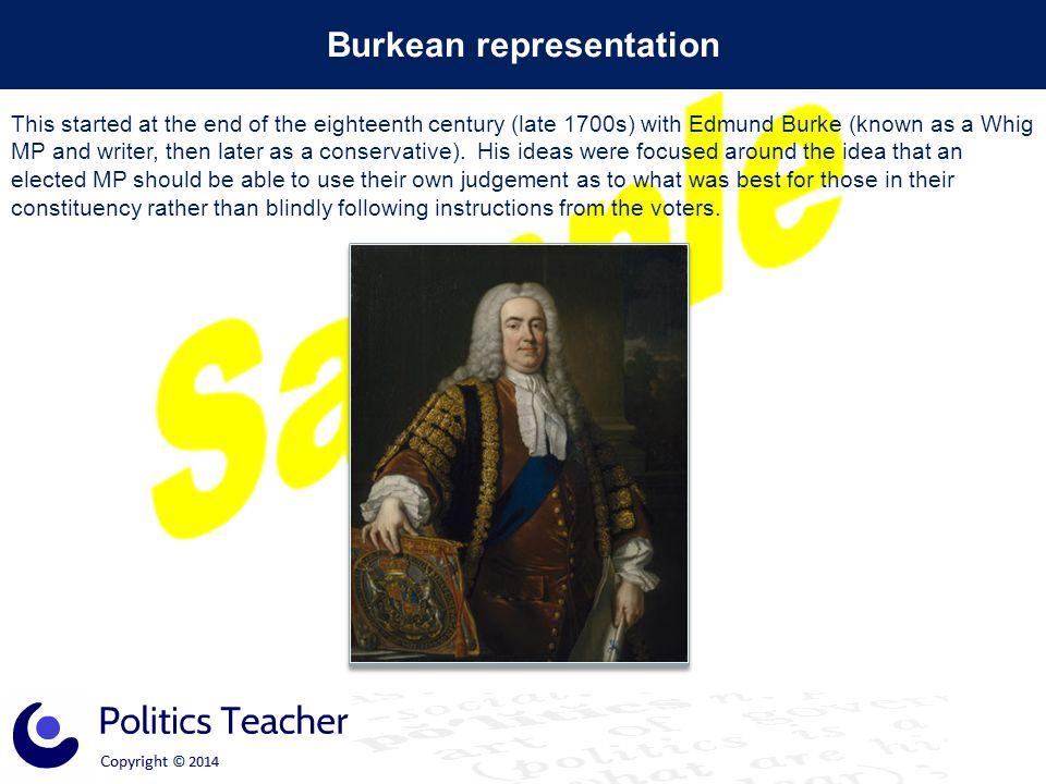 Burkean representation