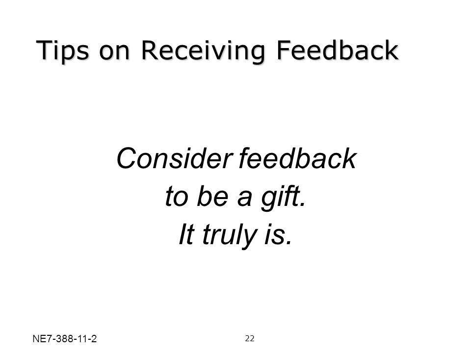 Tips on Receiving Feedback