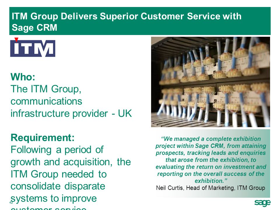 ITM Group Delivers Superior Customer Service with Sage CRM