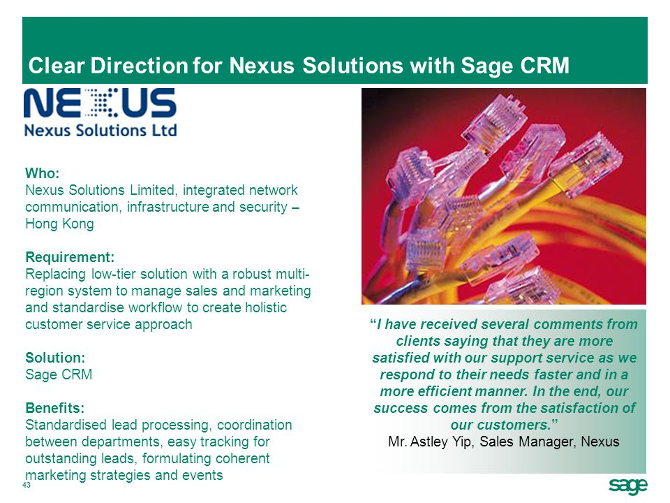 Clear Direction for Nexus Solutions with Sage CRM