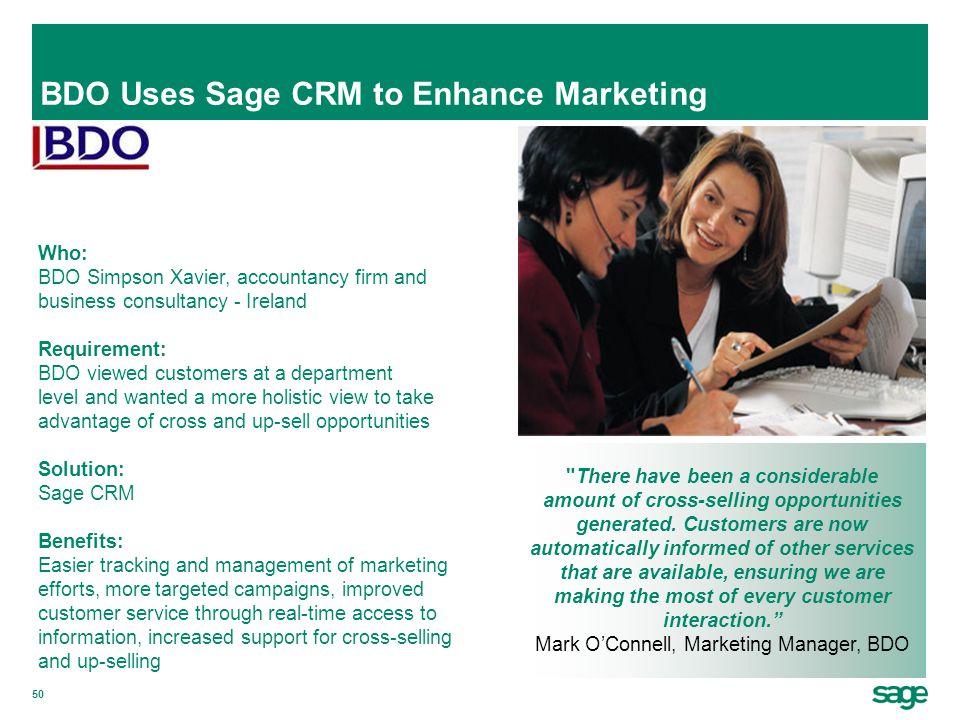 BDO Uses Sage CRM to Enhance Marketing