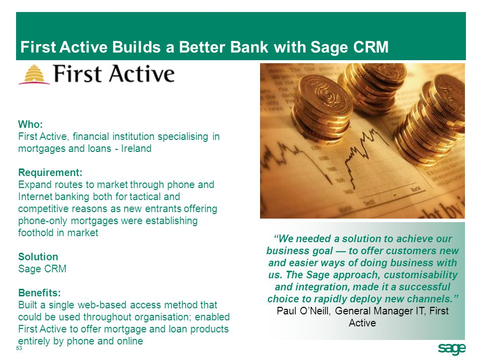 First Active Builds a Better Bank with Sage CRM