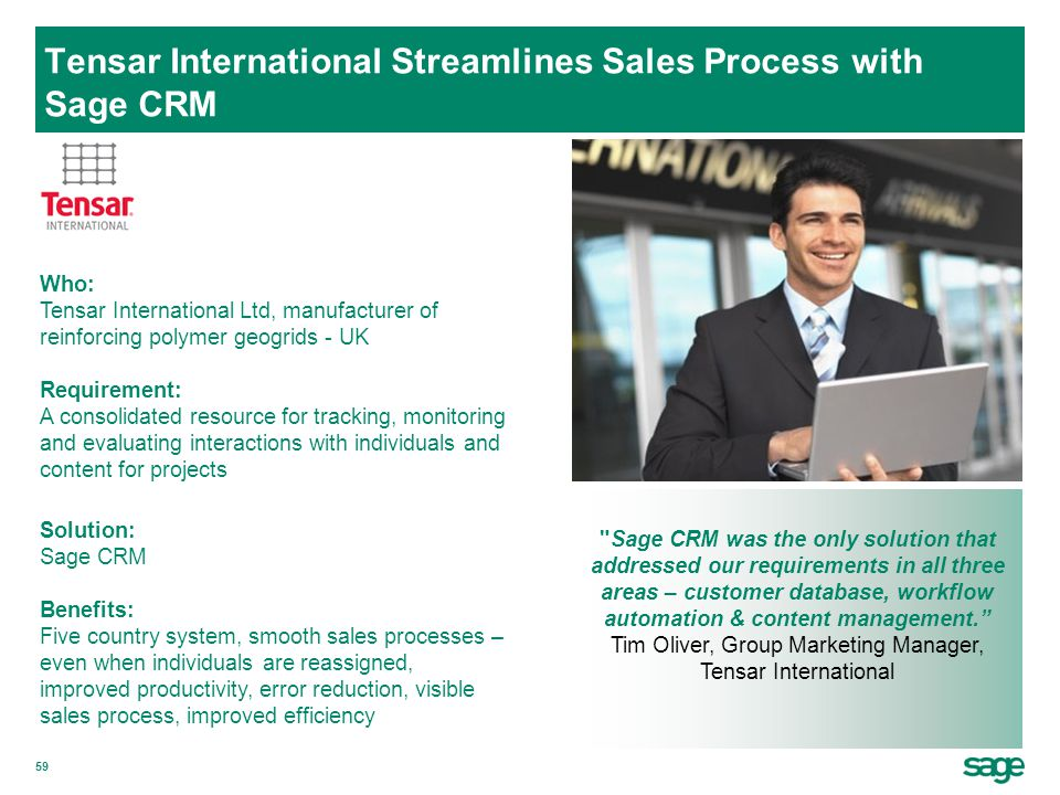 Tensar International Streamlines Sales Process with Sage CRM