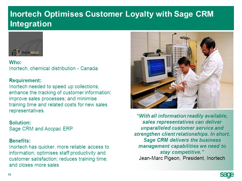 Inortech Optimises Customer Loyalty with Sage CRM Integration