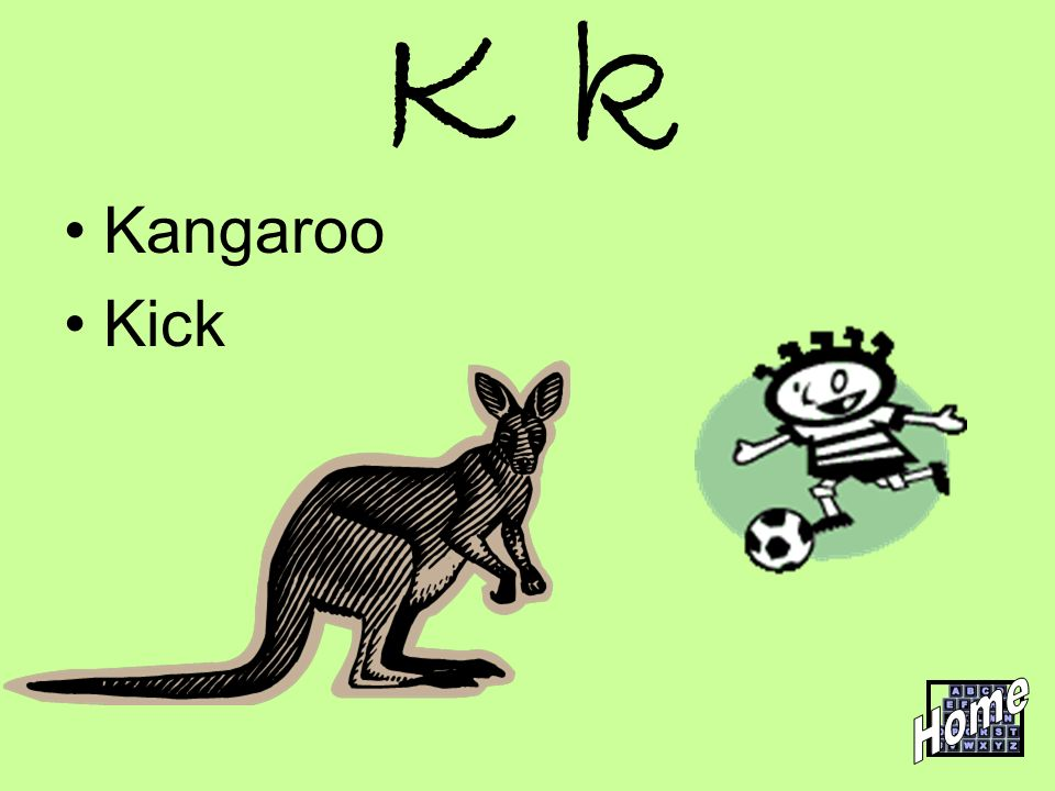 K k Kangaroo Kick Home