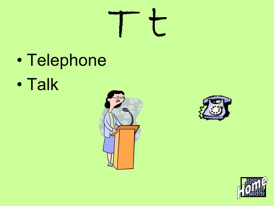 T t Telephone Talk Home