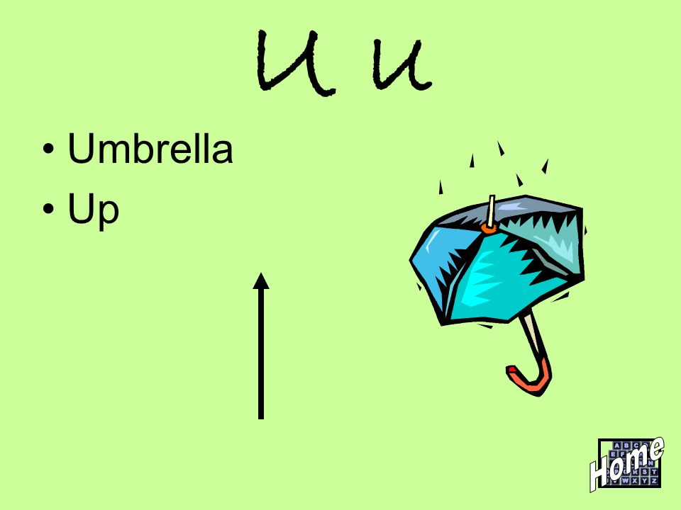 U u Umbrella Up Home