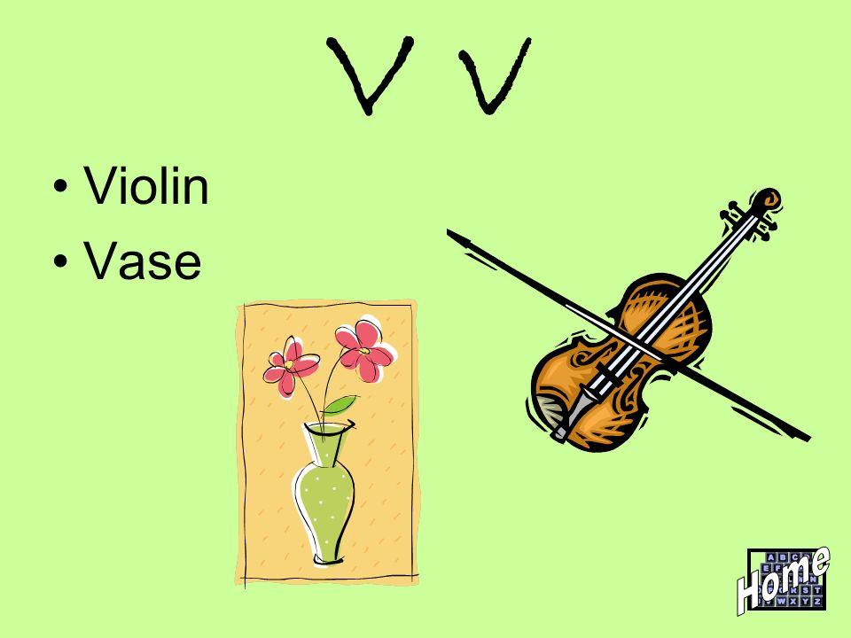 V v Violin Vase Home