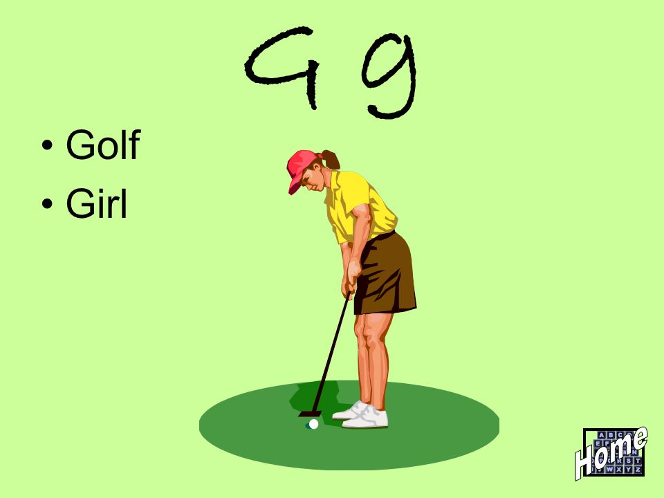 G g Golf Girl Home