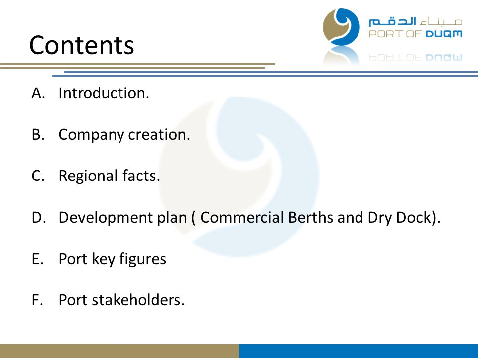 Contents Introduction. Company creation. Regional facts.