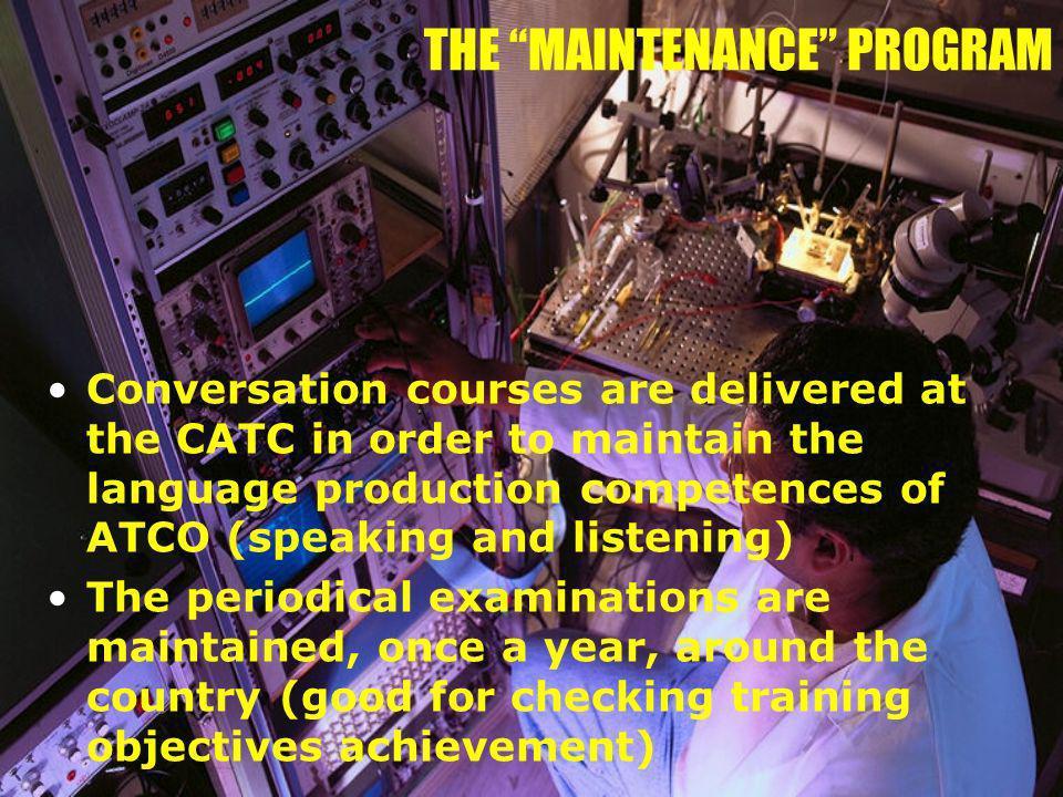 THE MAINTENANCE PROGRAM