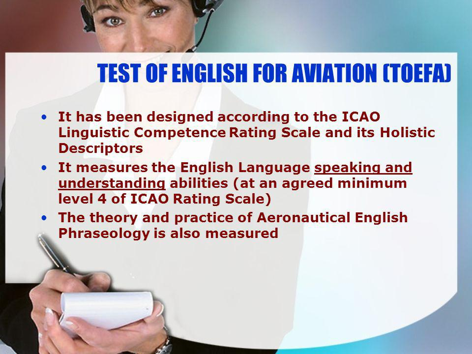 TEST OF ENGLISH FOR AVIATION (TOEFA)