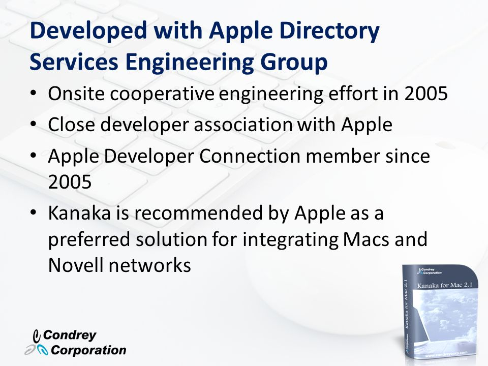 Developed with Apple Directory Services Engineering Group