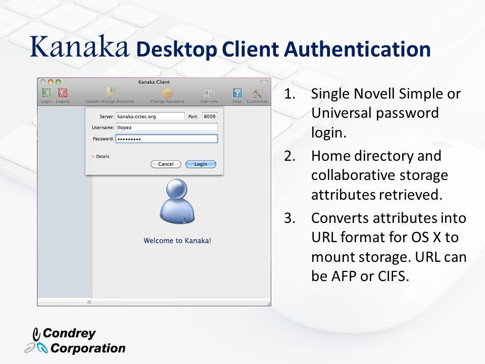 Kanaka Desktop Client Authentication