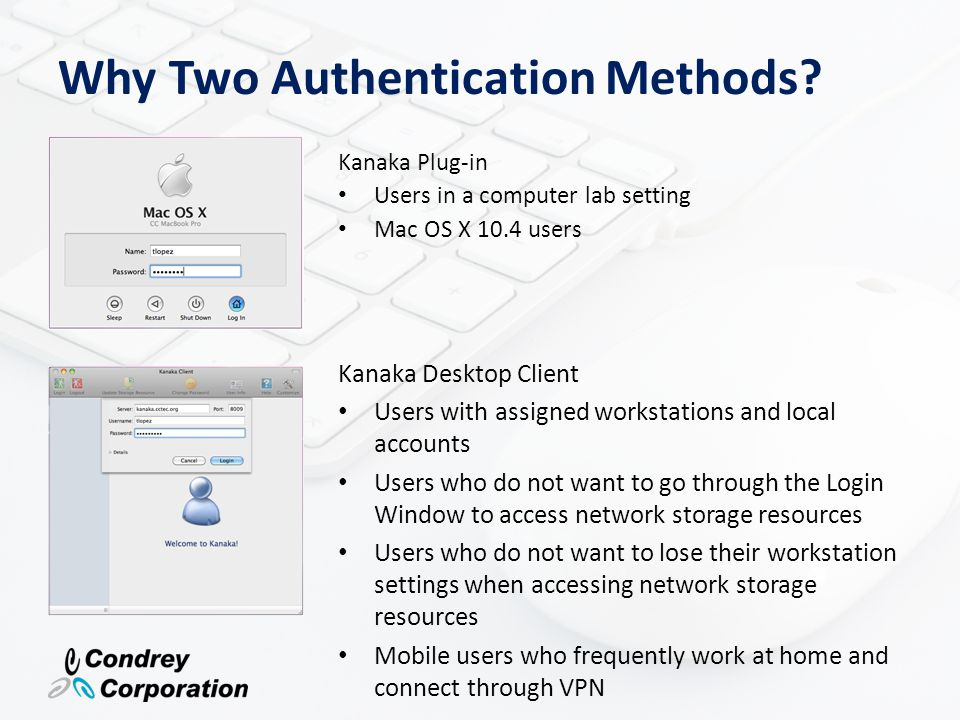 Why Two Authentication Methods