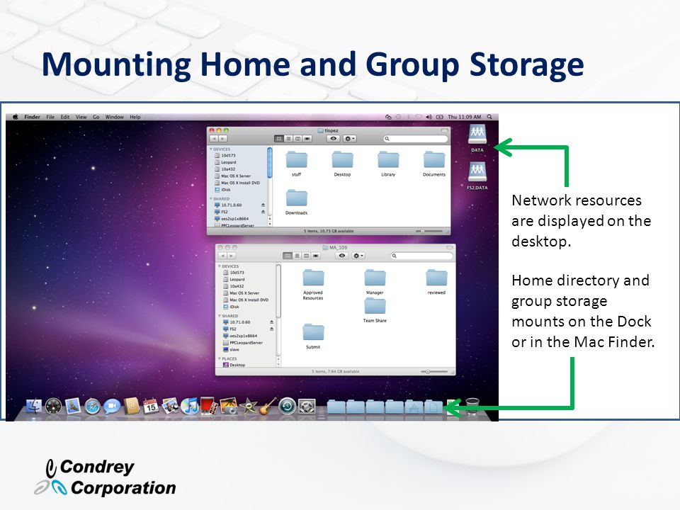 Mounting Home and Group Storage