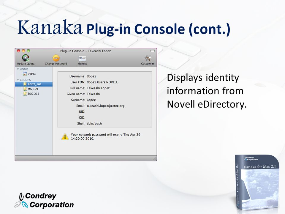Kanaka Plug-in Console (cont.)