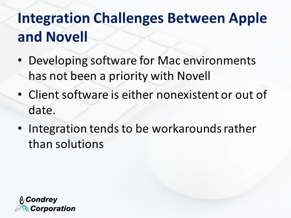 Integration Challenges Between Apple and Novell