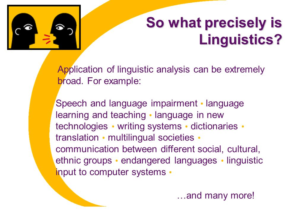 So what precisely is Linguistics