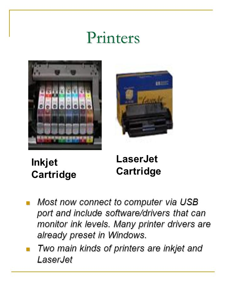 Printers LaserJet Cartridge Inkjet Cartridge