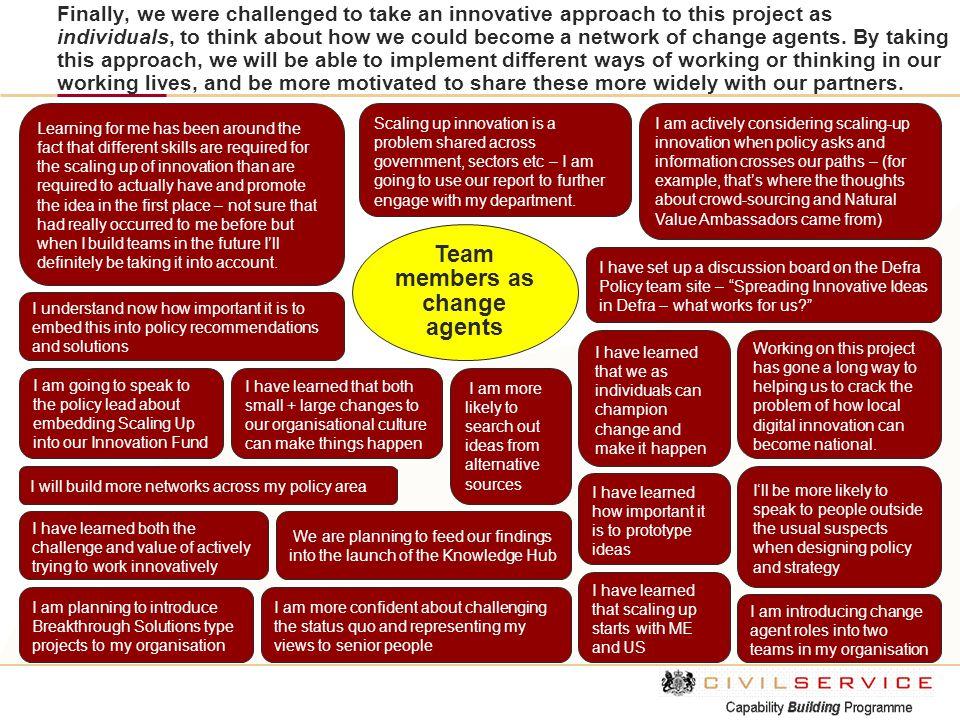 Team members as change agents