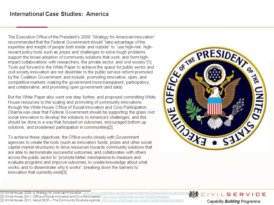 International Case Studies: America
