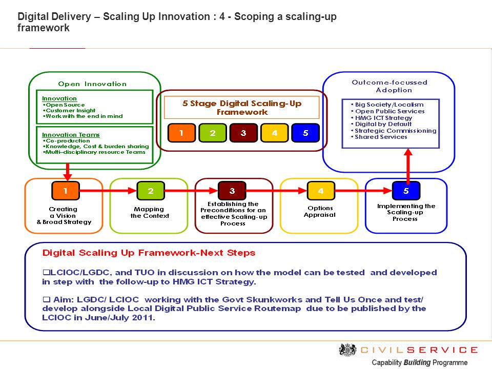 Digital Delivery – Scaling Up Innovation : 4 - Scoping a scaling-up framework