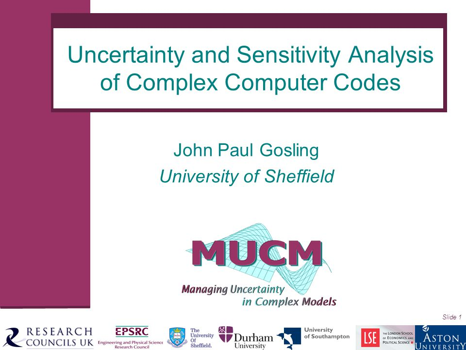 Uncertainty and Sensitivity Analysis of Complex Computer Codes