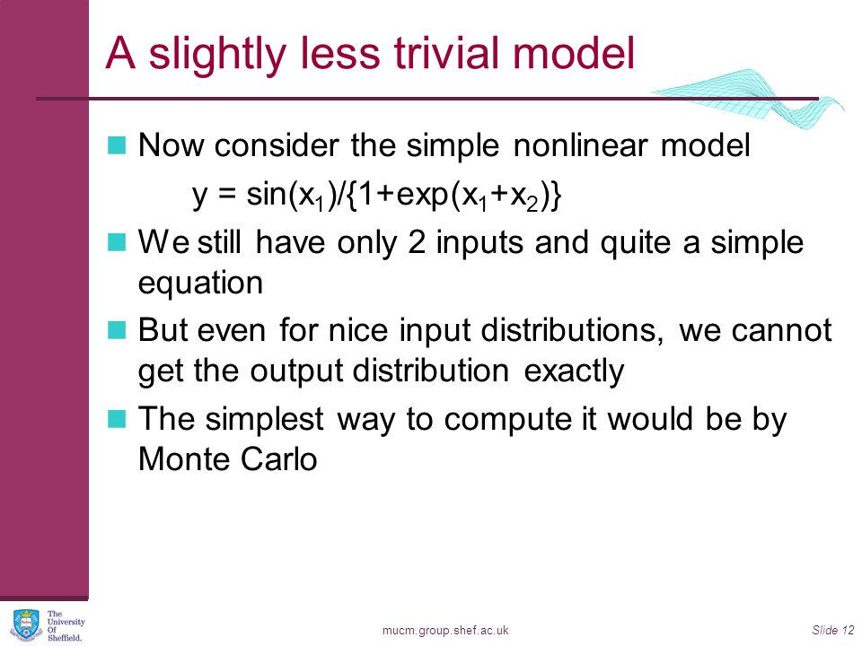 A slightly less trivial model