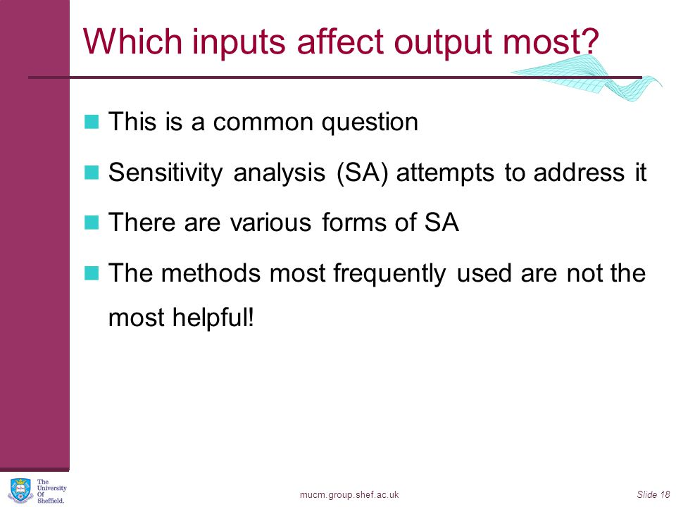 Which inputs affect output most