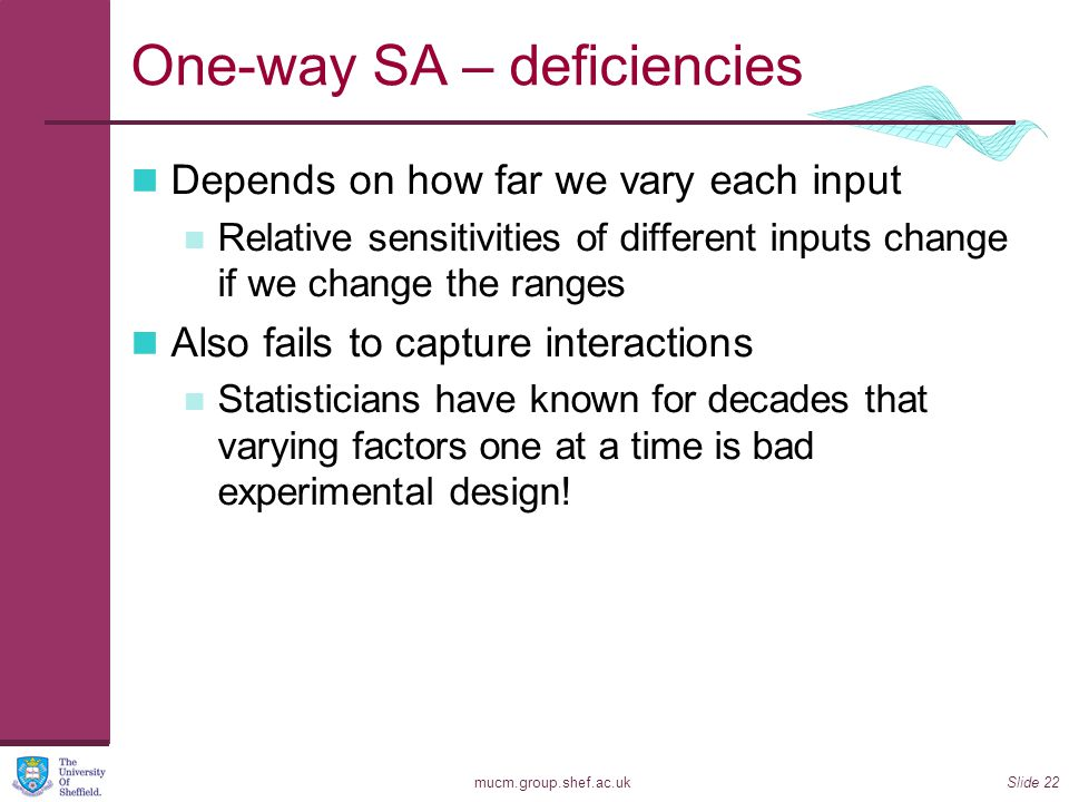 One-way SA – deficiencies