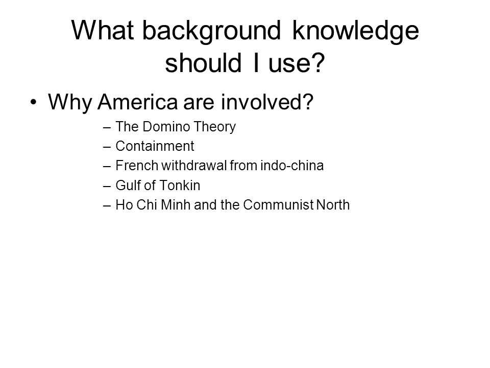 What background knowledge should I use