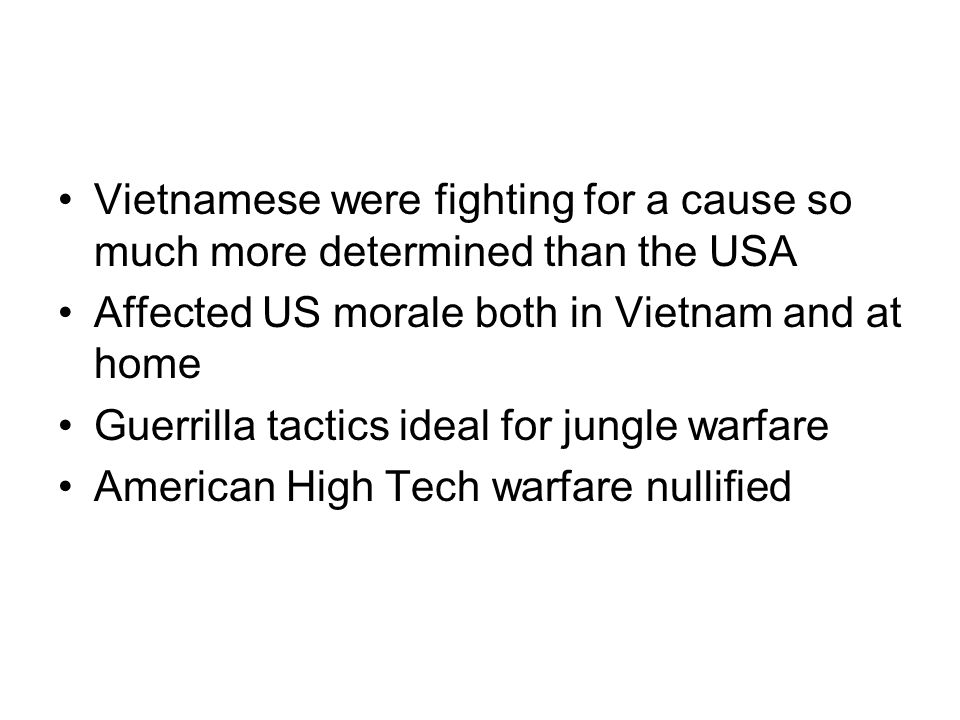 Vietnamese were fighting for a cause so much more determined than the USA