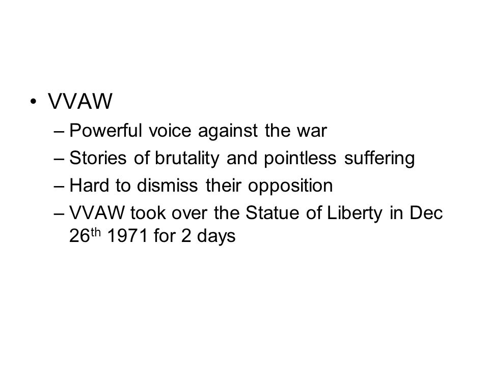 VVAW Powerful voice against the war